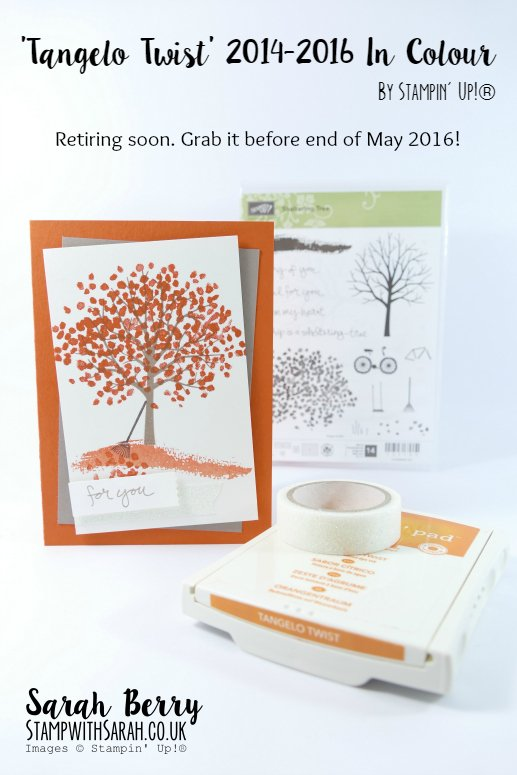 In Colour Week featuring Tangelo Twist 2014-2016 In Colour #stampwithsarah #stampinup