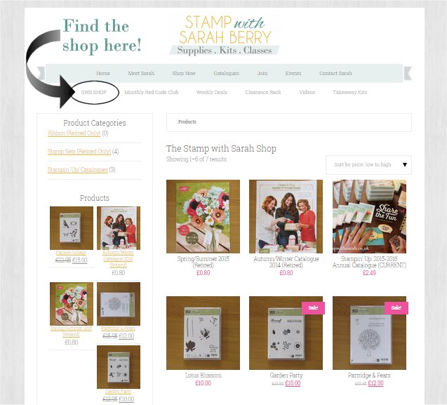 The Stamp with Sarah Shop here