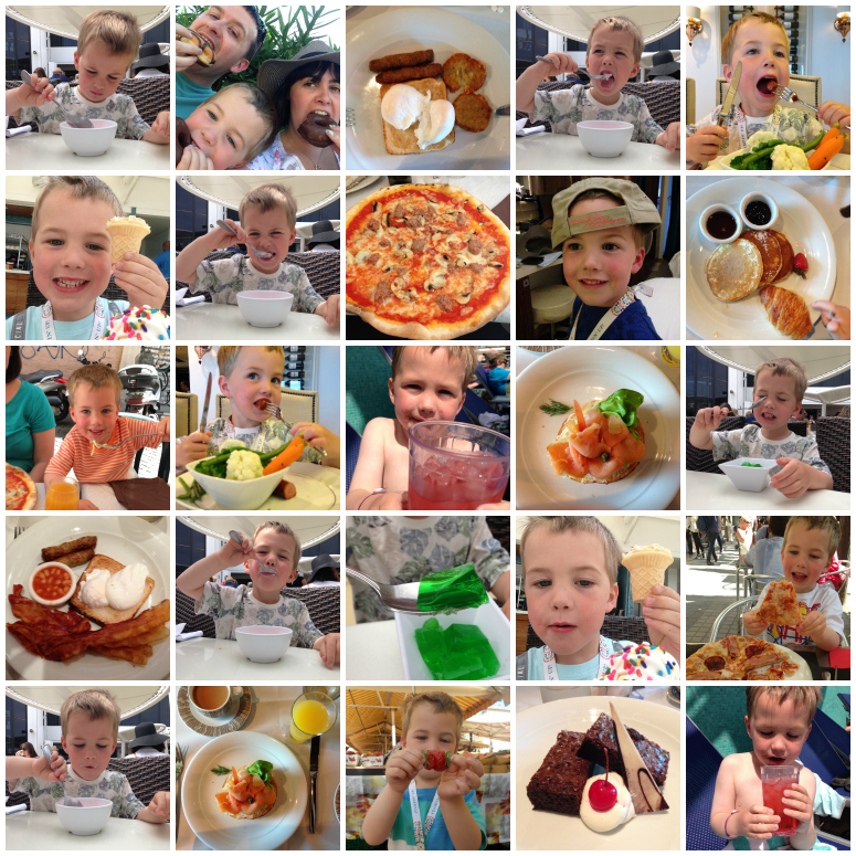 There was a lot of food and drink!!