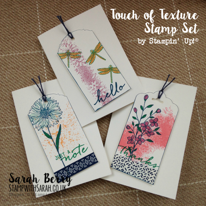 Touch of Texture cards made at first workshop of the year