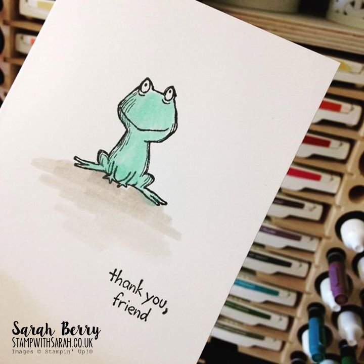 Watercoloured Frog from Love You Lots stamp set #stampinup #gvachieversbloghop