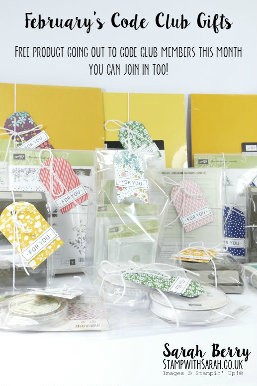 You can join in too! Amazing free product going out for February's Red Code Club #stampwithsarah #stampinup