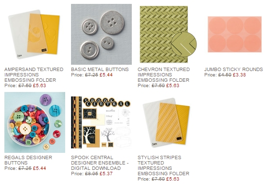 Stampin' Up! Weekly Deals 22nd October